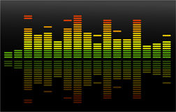 The Vector Equalizer Abstract Background Royalty Free Stock Photo