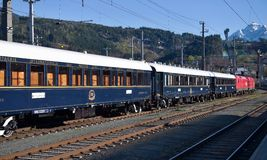 The Venice Simplon-Orient-Express In Innsbruck Stock Image