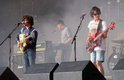 The View Indie / Rock Band On Stage Stock Images