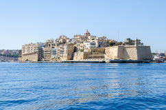 Free The View Of Senglea Peninsula With Fort Saint Michael Stock Photos - 96131053