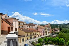 Free The Village Of Ruviano On The Hills Of The Province Of Caserta, Italy Royalty Free Stock Photos - 182019628