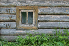 The Walls Of Log And Window Stock Photos