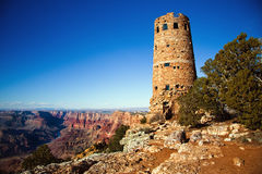 The Watchtower At The Grand Canyon Stock Photos