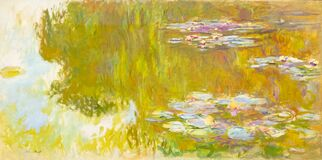Free The Waterlily Pond By Claude Monet Royalty Free Stock Photography - 199116717
