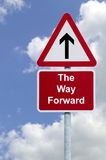The Way Forward Sign In The Sky Stock Images