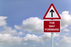 The Way Forward Signpost In The Sky Stock Photos