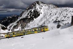 The Wendelstein Rack Railway In Winter Stock Photo