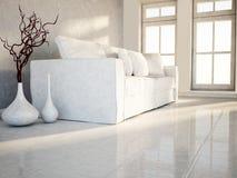 Free The White Vases Near The Sofa Stock Image - 45976331