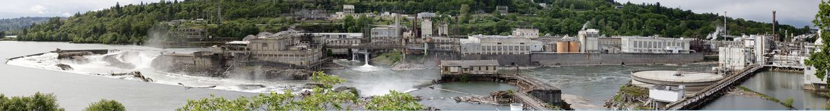Free The Willamette Falls Hydro Electric Dam Royalty Free Stock Photography - 159376557