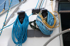 Free The Winches And Ropes Of A Sailboat, Detail Stock Photo - 40808150