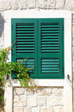 The Window With Wooden Shutters Stock Images