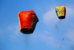 Free The Wishing Sky Lantern Stock Images - 62216634
