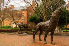 Free The Wolfpack Statues At North Carolina State University In Raleigh, North Carolina. Stock Photo - 185062370