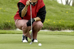 The Woman The Golfer Stock Photography