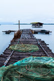 The Wooden Bridge Of A Fishing Pier Royalty Free Stock Image
