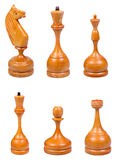 The Wooden Chess Pieces Stock Photo