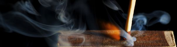 The Wooden Match Royalty Free Stock Image