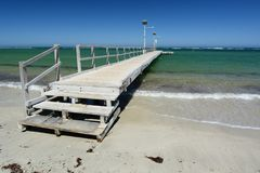 Free The Wooden Pier. Horrocks Beach. Western Australia. Australia Stock Photo - 113098080