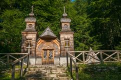 Free The Wooden Russian Chapel On The Vrsic Pass-Slovenia Stock Photography - 154381602
