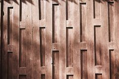 The Wooden Wall Of Old Thai`s House With Abstract Texture Background Stock Images