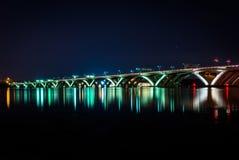 Free The Woodrow Wilson Bridge At Night, In Alexandria, Virginia. Royalty Free Stock Image - 77446586