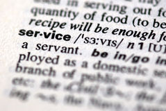 Free The Word Service Royalty Free Stock Photo - 7455485