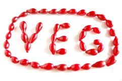 Free The Word VEG Made Of Cornel Berries Stock Photos - 11039053