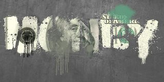Free The Words MONEY, I NEED SOME Are Spray Painted As Graffiti Royalty Free Stock Image - 215738066