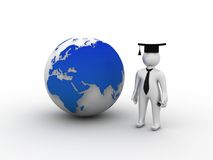 The World Is Opened For You. Graduate Royalty Free Stock Photos