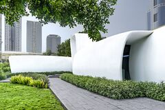 Free The World's First Fully Functional 3D Printed Building In Green Lawns, Dubai, Jun.2018 Stock Photography - 183213652