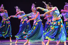 Free The Yi Nationality Water Sprinkling-Chinese Nationality Dance Stock Photo - 64282980