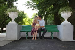 The Young Family Royalty Free Stock Photography