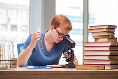 Free The Young Student Tired And Exhausted Preparing For Chemistry Exam Stock Images - 77740344