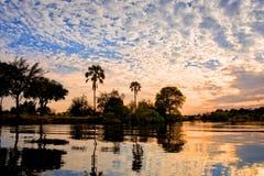 Free The Zambeze River At Sunset, Zambia Stock Photography - 111486992