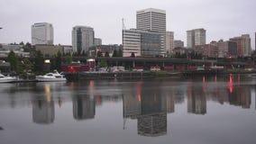 Thea Foss Waterway in Tacoma, Washington stock video