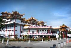 Thean后屿寺庙的侧视图在吉隆坡 库存图片