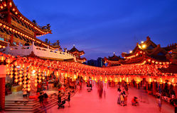Thean Hou tempel Kuala Lumpur Royaltyfria Bilder