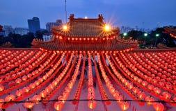 Thean Hou tempel Kuala Lumpur Arkivbilder