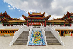 Thean Hou Temple Courtyard. And staircase atop Robson Heights in Kuala Lumpur Malaysia royalty free stock image