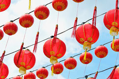 Thean Hou Temple Kuala Lumpur. Chinese red lanterns hanging on the Thean Hou temple stock photography