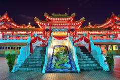 Thean Hou Temple at night time Royalty Free Stock Photography