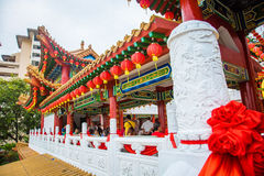 thean houKuala Lumpur malaysia tempel Arkivfoto