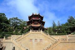 Thean houtempel, mazutempel i meizhou Arkivfoton