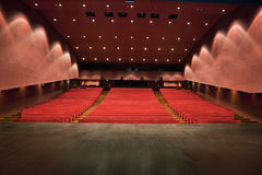 Theater. An empty and modern Theater Stock Image