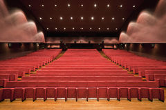 Theater. An empty and modern Theater Royalty Free Stock Photo