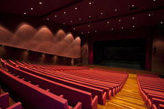 Theater. An empty and modern Theater - view from behind Stock Photography