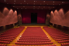 Theater. An empty and modern Theater - view from behind Royalty Free Stock Photography