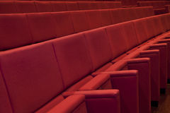 Theater. Detail of a Theater empty seats Royalty Free Stock Images