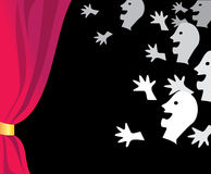 In the theater. Vector illustration of the spectators hall Royalty Free Stock Photos