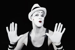 Theater actor in makeup mime clown Royalty Free Stock Photography